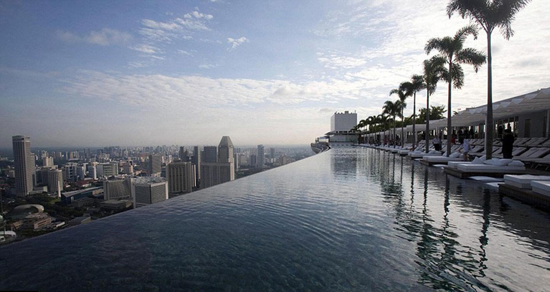 Donde se encuentra la piscina más alta del Mundo ?