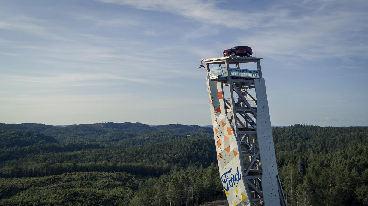 Ford creó un ambicioso desafío de escalada deportiva que involucró un Explorer Plug-In Hibrido