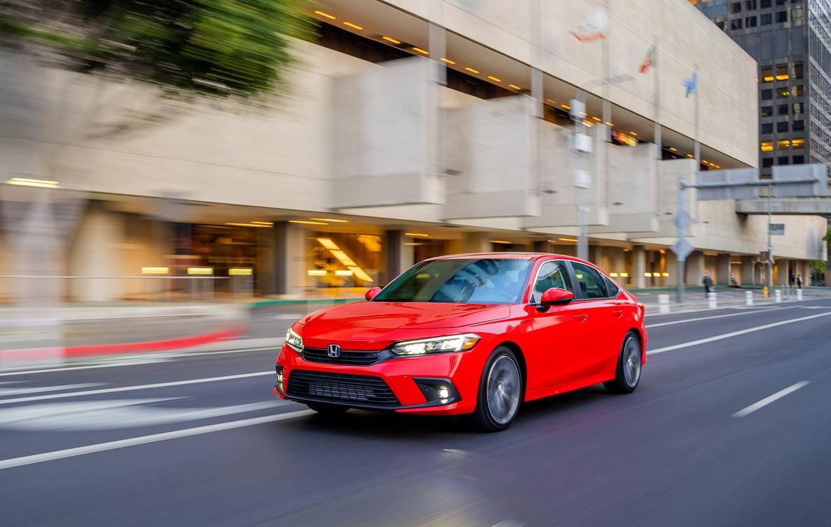 El Honda Civic del 2022 se alza con la mas alta calificación de seguridad automotriz