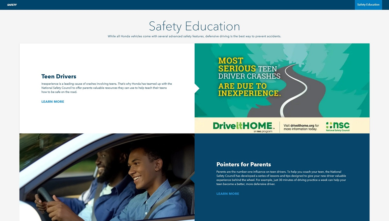 Honda lanza nuevas iniciativas para apoyar la seguridad de los conductores jóvenes